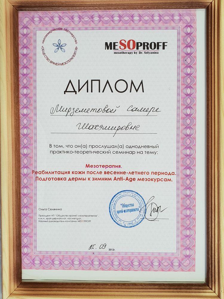 Мирземетова Самера