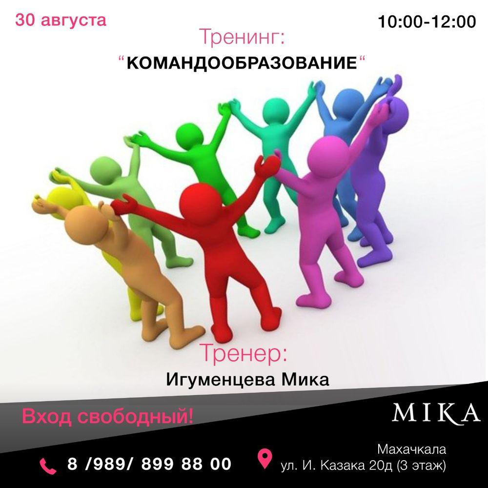 Тренинг от Игуменцевой Мики «Командообразование»