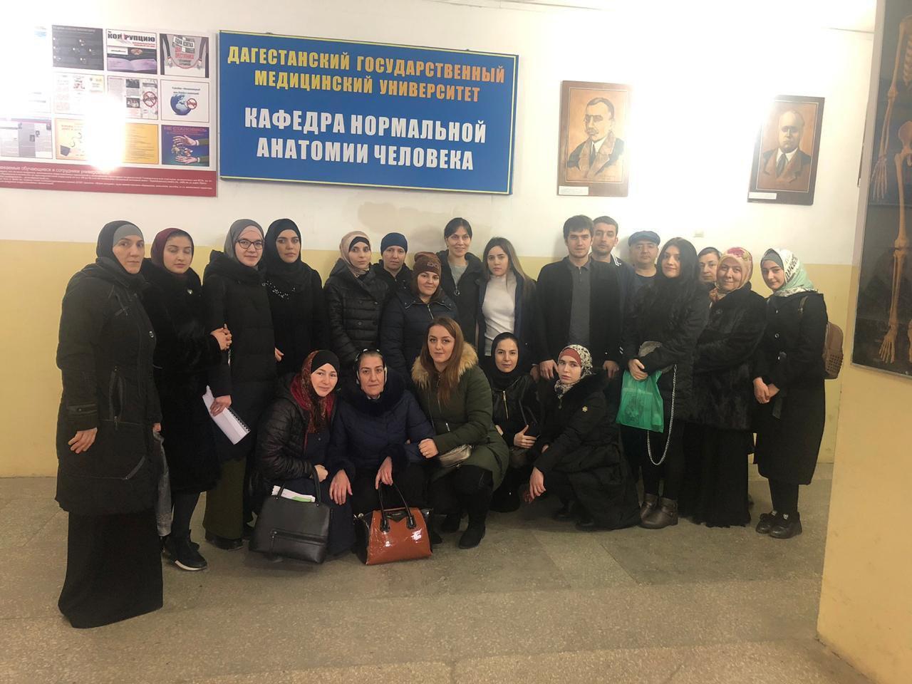 Поход в анатомический музей в ДГМУ на кафедре анатомии с учениками.